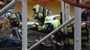 Tsunami inverted roller coaster