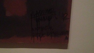 Defaced Rothko painting at the Tate Modern art gallery