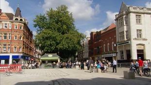 Peterborough city centre.