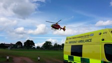 Woman airlifted after kick from horse in Worcestershire