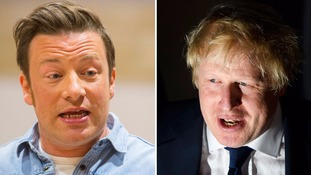 Jamie Oliver and Boris Johnson