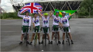Mike Tomlinson and team depart on 'Ride to Rio'