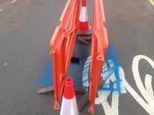 Cheltenham road closed by tiny sink-hole