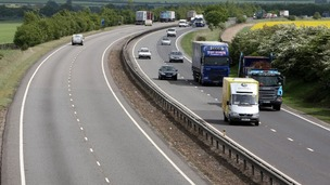 The A14: One of the roads scheduled for improvements