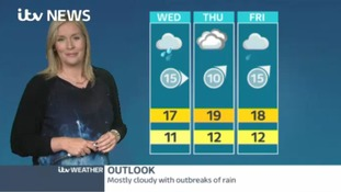 Weather: dry overnight but the week ahead will be rainy and windy