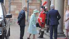 The Queen visited Hillsborough Castle on Monday.