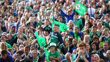 NI fans welcome home their heroes.