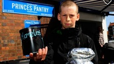 Teenager saves pocket money to buy homeless sandwiches