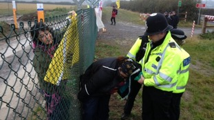 Protesters scale fence at Hinkley Point