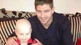 Charlie with Liverpool FC hero Steven Gerrard