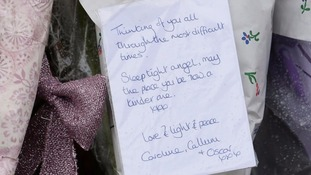 A tribute left to Kayleigh Haywood