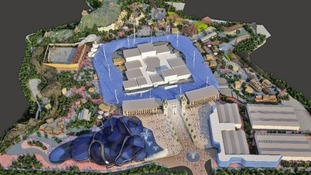 Artist's impression of theme park