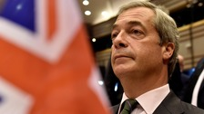 'You're not laughing now' - Farage goads European Parliament