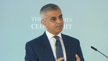 London mayor Sadiq Khan refuses to be drawn into the row over Labour leader.