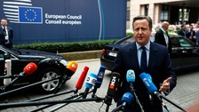 David Cameron arrives in Brussels for post-Brexit talks