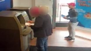 Watch moment man steals cash from elderly woman