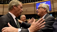 'You're not laughing now': Farage goads EU Parliament
