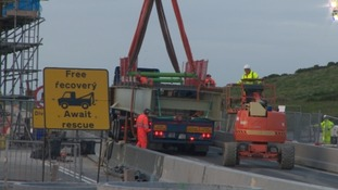 Work on one of the West Country's worst bottlenecks has reached a major milestone