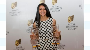 An award-winning Meera at last year's RTS Awards in Birmingham