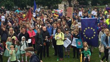 Hundreds join political rallies in Bristol