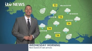Prepare to get wet - the next band of rain is on its way