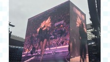 Beyonce performing in Sunderland.