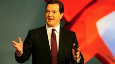 Chancellor George Osborne addresses today's session of the Conservative Conference
