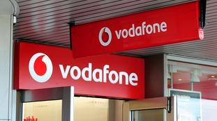 General view of Vodafone shop in Birmingham.