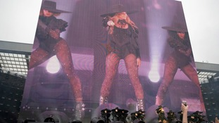 Beyonce performed favourites such as Crazy in Love, Run the World and the Destiny's Child classic, Survivor.