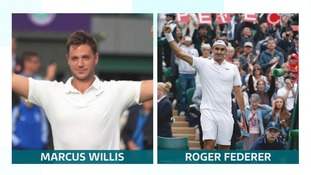Head to head: Marcus Willis v Roger Federer