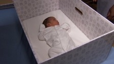 First UK hospital gives parents baby boxes