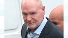 Paul Gascoigne arriving at Dudley Magistrates Court on Wednesday