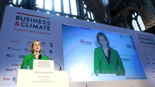 Energy Secretary Amber Rudd speaking at the 2016 Business and Climate Summit in London today.
