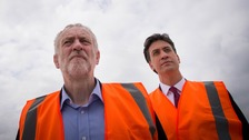 Ed Miliband (right) has urged Jeremy Corbyn to resign.