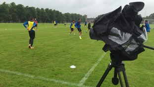 Forest Green Rovers return to training in the pouring pre-season rain