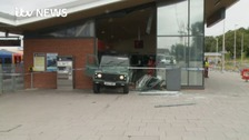 Land Rover ram-raids train station in 'well-planned' attack