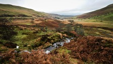A general view of the Brecon Beacons National Park in Wales.