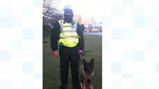 Handler pays tribute to his police dog Yeoman