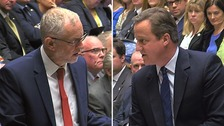 Cameron tells Corbyn: 'For heaven's sake man, go'