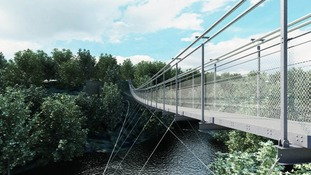 Plans for a suspension bridge over the River Tees revealed