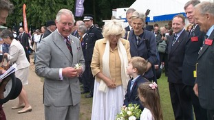 Prince Charles and the Duchess of Cornwall at the Norfolk Show