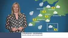 Increasing cloud today with outbreaks of rain