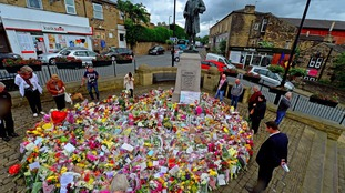 A sea of flowers placed at a memorial in Birstall, after Labour MP Jo Cox was shot and stabbed to death in the street outside her constituency advice surgery.