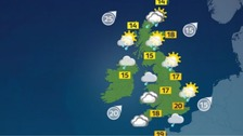 Weather: Unsettled across the UK with showers