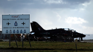 Hawk jet at RAF Valley