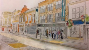 Artist's impression of new restaurant, The Fork in the Road