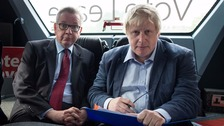 Michael Gove and Boris Johnson on the Vote Leave campaign last week.