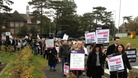 Protesters march into K College in Tonbridge