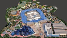 An artist's impression of what the theme park might look like.