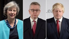 Live updates: May and Gove launch Tory leadership bids